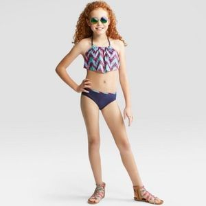 Art Class Mystical Shimmer Bikini Set 4-5 XS NWT